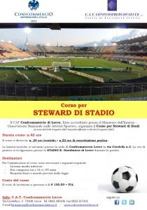locandina corso steward stadio