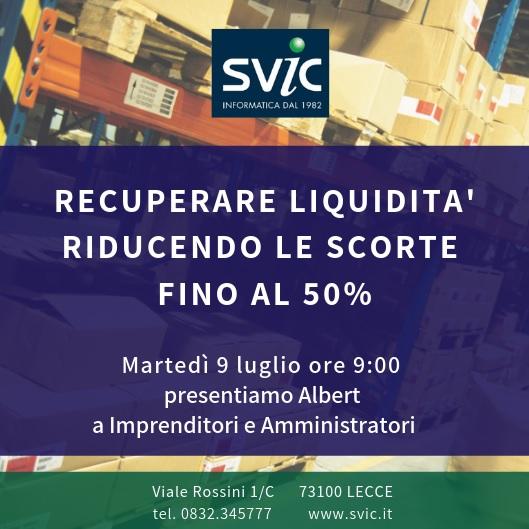 SAVE THE DATE - martedì 9 luglio 2019 - ore 9.00 -  c/o sede SVIC di Lecce (Viale Rossini 1/c) - presentazione SOFTWARE