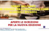 ULTIMI POSTI A DISPOSIZIONE PER IL CORSO ABILITANTE PER SOMMINISTRAZIONE E VENDITA ALIMENTI E BEVANDE - START:  12/12/2019