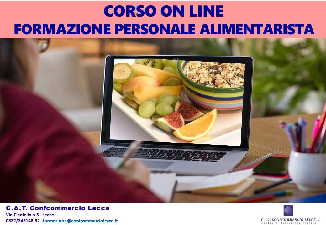 Formazione Personale Alimentarista- corso ONLINE in modalità asincrona
