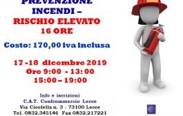 CORSO ADDETTO ALLA PREVENZIONE INCENDI - RISCHIO ELEVATO