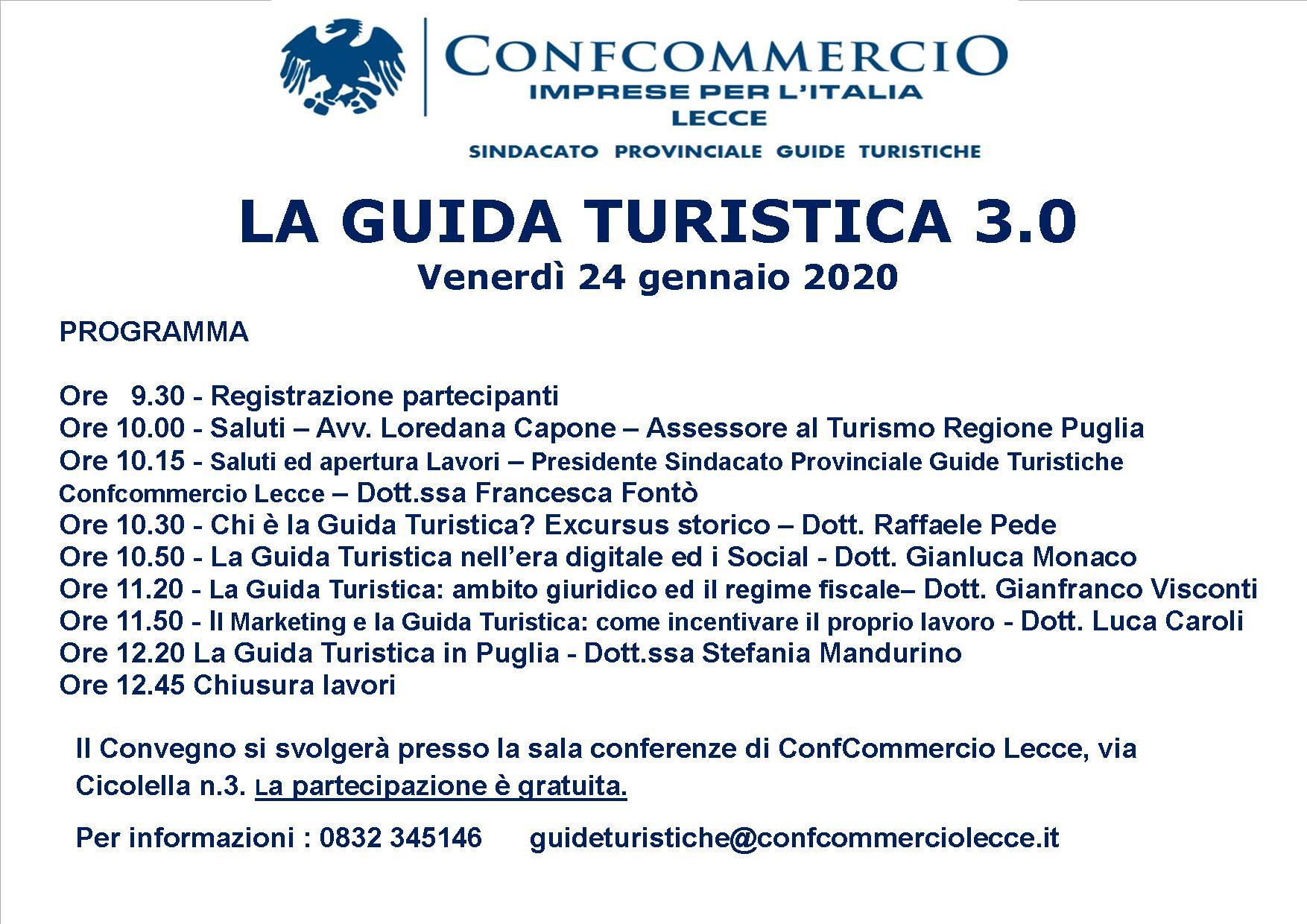 seminario 24 gennaio 2020 - La Guida Turistica 3.0