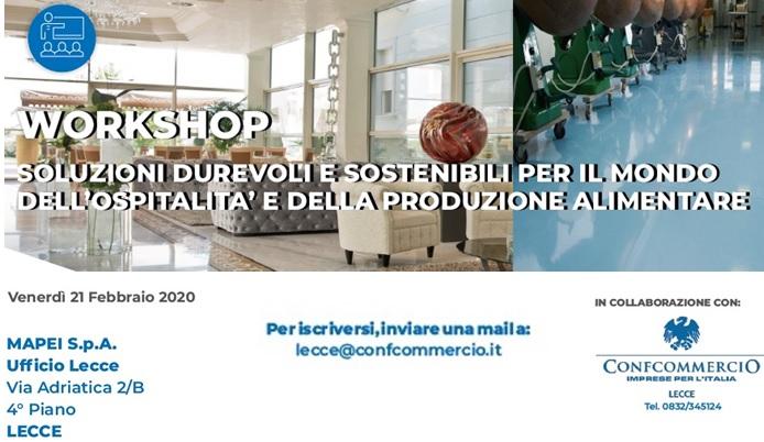 SAVE THE DATE - venerdì 21 febbraio 2020 - ore 15.00 - c/o MAPEI Lecce - WORKSHOP