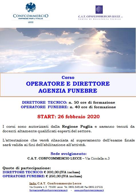Corso per operatore e direttore funebre: START 26 Febbraio