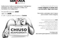 SERRATA #SIAMOSPENTI MARTEDI' 3 NOVEMBRE 2020 DALLE ORE 18:00 IN TUTTI I COMUNI DELLA PROVINCIA DI LECCE
